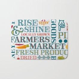 Farm Fresh Market Signage Bath Mat
