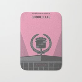 No549 My Goodfellas minimal movie poster Bath Mat