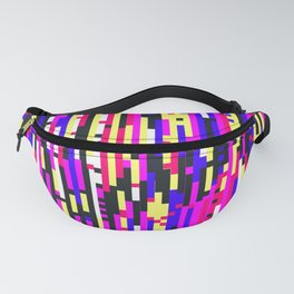 Colorful Digital Glitch Art Fanny Pack