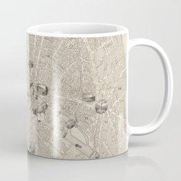 Vintage Map of Paris France (1841) Coffee Mug