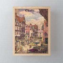 vintage placard Chester Framed Mini Art Print
