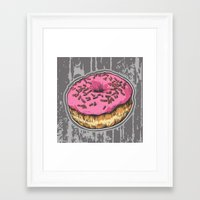 doughnut Framed Art Prints featuring Doughnut by Katy V. Meehan