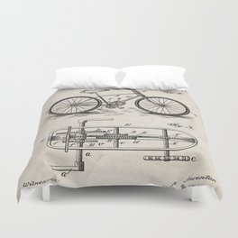 Bike Patent - Bicycle Art - Antique Duvet Cover