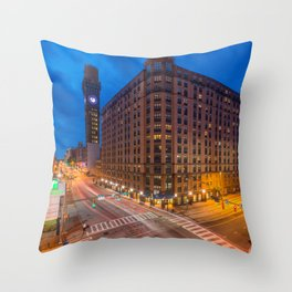 Lombard & The Bromo Seltzer Tower Throw Pillow