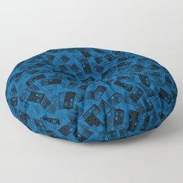 Tardis pattern Floor Pillow
