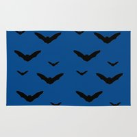 bats Area & Throw Rugs featuring Bats by Jessica Slater Design & Illustration