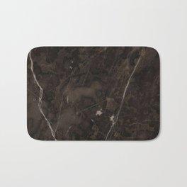 Brown Vein Marble Dark Brown Interior Coffee Home Decor Stone Minimal Design Bath Mat