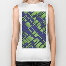 3D Abstract Futuristic Background III Biker Tank