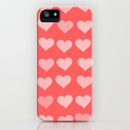 Cute Hearts iPhone Case