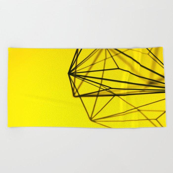 Yellow shape Beach Towel