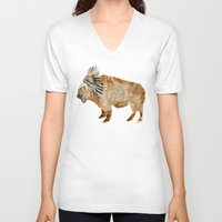 buffalo V-neck T-shirts featuring buffalo by bri.buckley