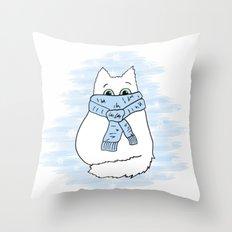 Cartoon cat. Throw Pillow