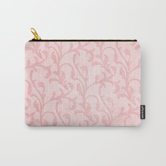Pretty princess- Pink elegant Damask pattern Carry-All Pouch