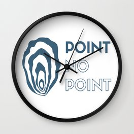 Point No Point simple Wall Clock