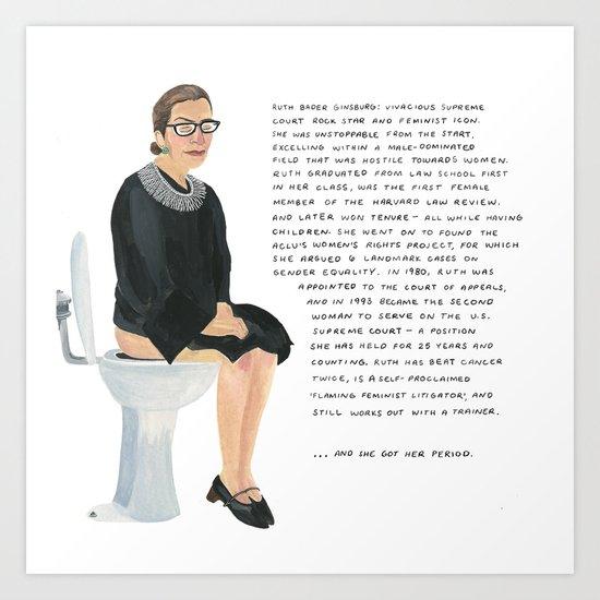 Ruth Bader Ginsburg by ariellaelovic