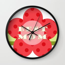''best Mom'' flower medal - Mother's Day gift idea Wall Clock