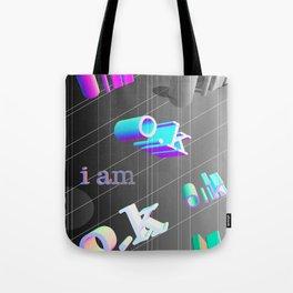 Iam OK alternative print[absract-geometric-3d] Tote Bag