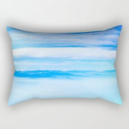 Heavenly Mountains In A Sea Of Clouds Rectangular Pillow