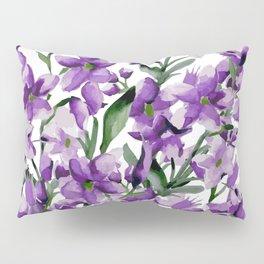 Lilac. Watercolor Pillow Sham