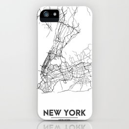 Minimal City Maps - Map Of New York, United States iPhone Case