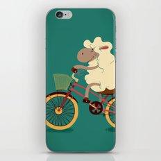 Lamb on the bike iPhone & iPod Skin