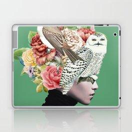Lady with Birds(portrait) 2 Laptop & iPad Skin