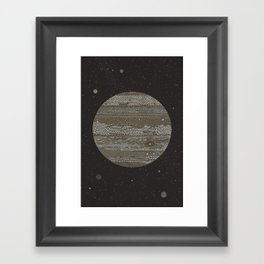 Jupiter (and selected Moons) Framed Art Print