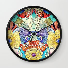 Morning Charm Japanese art Wall Clock