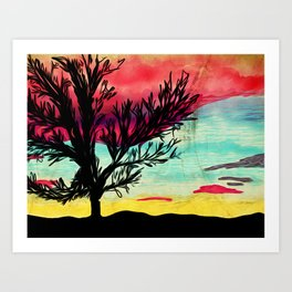 Tree & Sky Art Print
