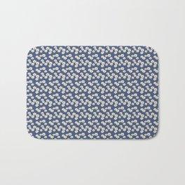 Daisies on blue Bath Mat