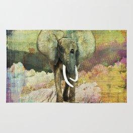 Abstract Grunge Elephant Digital art Rug