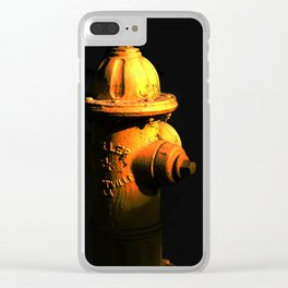 Fire Hydrant Orange and Black Art - Hot - Sharon Cummings Clear iPhone Case