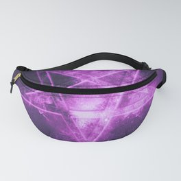 Reversed Pentagram symbol. Abstract night sky background. Fanny Pack