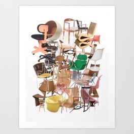 Chair Stack Art Print
