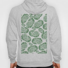 Hand drawn forest green white abstract watermelon Hoody