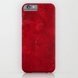 Red splashed background iPhone Case