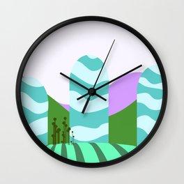 Stripes landscape  Wall Clock