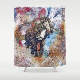 Elephant Painting Shower Curtain