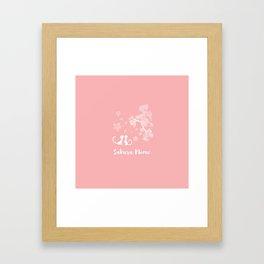 Sakura Cats Framed Art Print