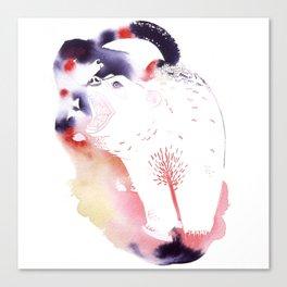 Polar Bear Love Print Canvas Print