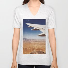 Flight Over Vegas Unisex V-Neck