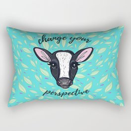 Change Your Perspective White Blaze Rectangular Pillow