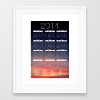calender Framed Art Prints featuring Jan C.P. Luna - 2014 Calender Poster by Jan  C.P. Luna