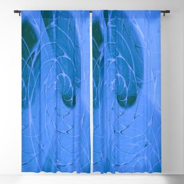 Cracked Ocean Surface Pattern Blackout Curtain
