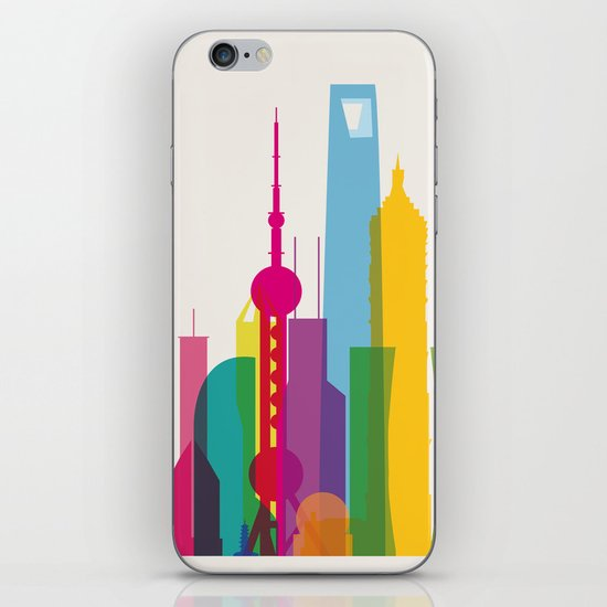 Shapes of Shanghai. Accurate to scale iPhone & iPod Skin