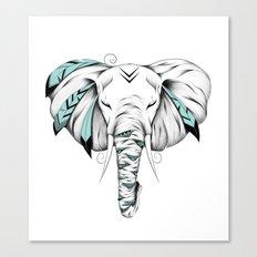 Poetic Elephant Canvas Print