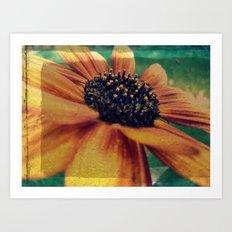 Painted Sunflower Art Print