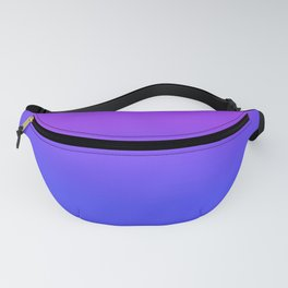 Neon Blue and Bright Neon Purpel Ombré Shade Color Fade Fanny Pack