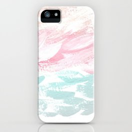Ocean Abstract, Pastel & Gray iPhone Case