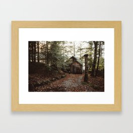 Cabin on Pleasant Lake Framed Art Print